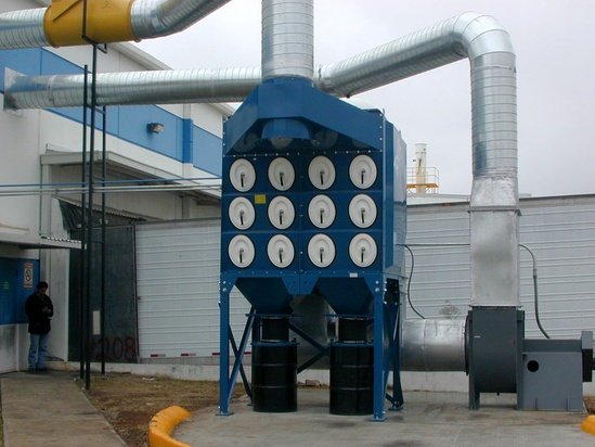 Torit Downflo Oval Dust Collector for Aluminum Grinding